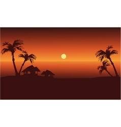 at afternoon landscape in beach vector image vector image