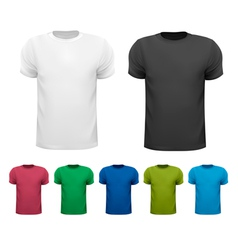 Black and white and color men polo shirts Design vector image vector image