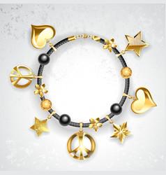 Bracelet with Symbols vector image vector image