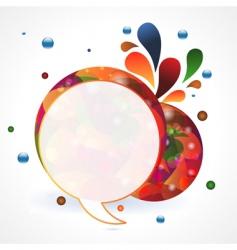 circular speech bubble vector image vector image