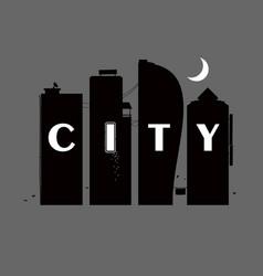 City noire landscape vector