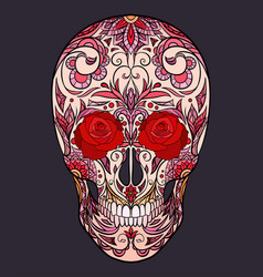 color of a sugar skull the holida vector image