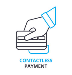 Contactless payment concept outline icon linear vector