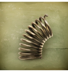 Elastic metal spring old style vector image vector image