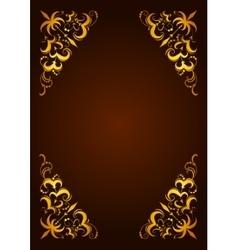 Elegant decorative hand drawn template frame vector