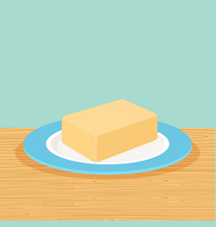 Farm butter on the table vector