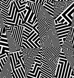 Geometric optical seamless pattern vector image vector image