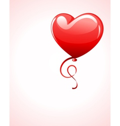 heart as air balloon with ribbon vector image vector image