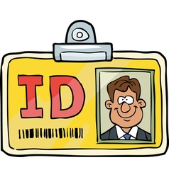 identification card vector image