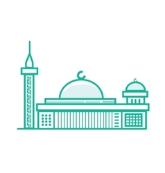 Istiqlal mosque islam prayer building in jakarta vector