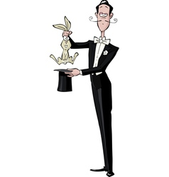 magician and the rabbit vector image