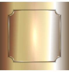 precious metal golden plate on smooth vector image