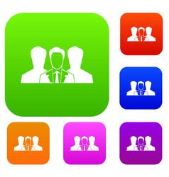Recruitment set collection vector