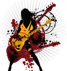 rock woman vector image