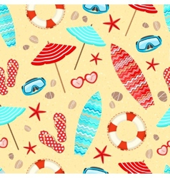 Seamless summer holiday pattern vector image vector image