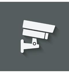 security camera symbol vector image vector image