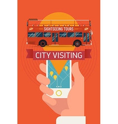 Sightseeing tours vector