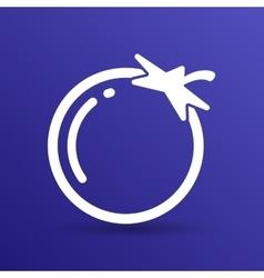 Simple Tomato symbol icon useful for logo vector image vector image