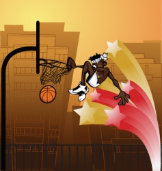 slam dunk urban vector image
