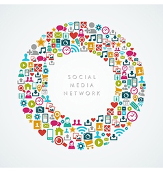 Social media network icons circle composition vector image