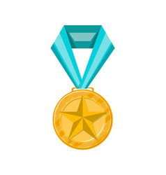 sport competition golden medal icon vector image vector image