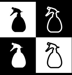 Spray bottle for cleaning sign black and vector