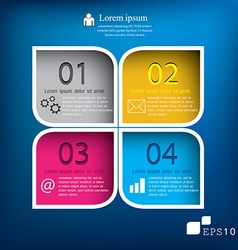Squares background can be used for workflow vector image vector image
