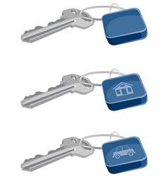 three keys set vector image