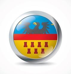 Transylvania flag button vector