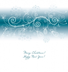 wintry background vector image