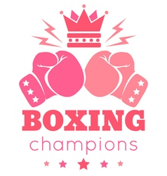 womens boxing vector image vector image