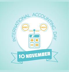 10 november international accounting day vector image vector image