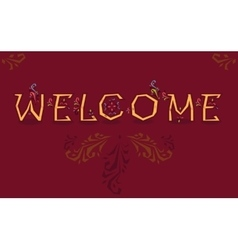 Welcome artistic font vector