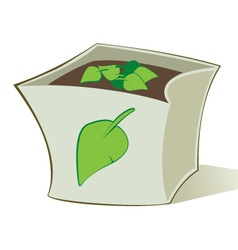 Compost bag vector