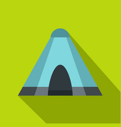 Blue tent icon flat style vector