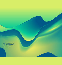 Green and blue color abstract wavy background vector