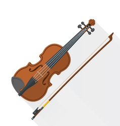 Color flat style fiddle violin vector