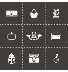 Bag icon set vector image