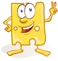 Fun cheese cartoon on white background fun cheese vector
