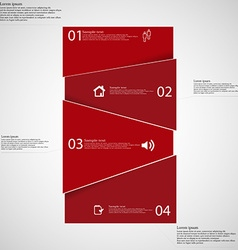 Infographic template with red bar randomly divided vector