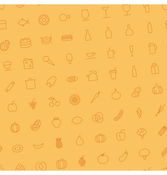 Seamless background for food and drinks vector