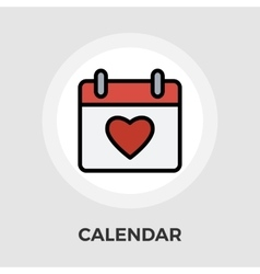 Calendar with heart vector image
