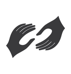Helping hands logo vector image