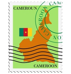 mail to-from Cameroon vector image