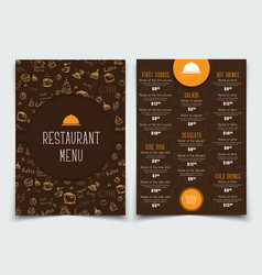 Brown and orange template with drawings of hands vector