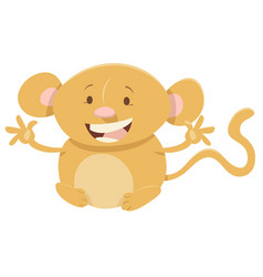 cartoon monkey animal character vector image vector image