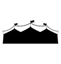 Circus tent festival vector
