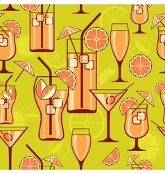 Cocktails background vector image vector image