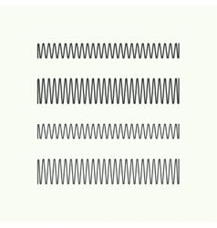 Coil spring icon vector