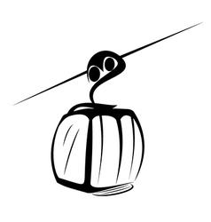 Elevator ski cabin sketch vector image